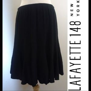 Lafayette 148 Petite 8 Flowy Dressy Full Skirt